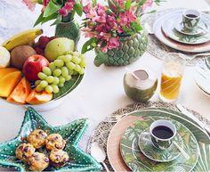 Bom dia  Terça feira de sol por aqui  #breakfasttime #sweethome #tableware @aguadecocobr