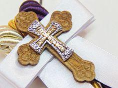 Gold Cross Wood Cross Knot of God Religious by UnityWeddingBraids