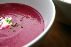 Smoky Beetroot and Parsnip Soup recipe - All recipes UK Detox Recipes, Soup Recipes, Detox Foods, Cooking Shop, Beetroot Soup, Parsnip Soup, Avocado Soup, Cashew Cream, Cream Soup