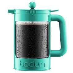 Bodum Bean Cold Brew Iced French Press Coffee Maker Color: Turquoise