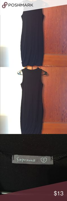 NWOT soprano black bodycon dress NWOT never worn!! Soprano black bodycon dress, perfect LBD to dress up or dresss down! Soprano Dresses