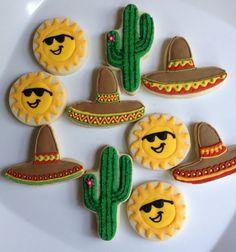 Fiesta Cookies  1 Dozen by hellobakery on Etsy, $26.00