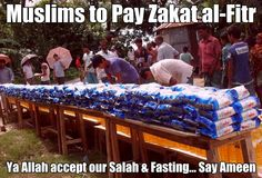 """Zakat al Fitr - £3 per head - The Prophet Muhammad (SAW) said: The fasting of the month of fasting will be hanging between earth and heavens and it will not be raised up to the Divine Presence without paying the Zakat al-Fitr."""" Pay your Zakat al Fitr here: http://www.islamfreedom.com/zakat_alfitr.php"""