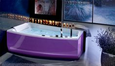 Simple Ideas and Tricks for Luxurious Master Bathroom Designs : Exotic Bathtubs In The Cool Bathroom Design By Blubleu