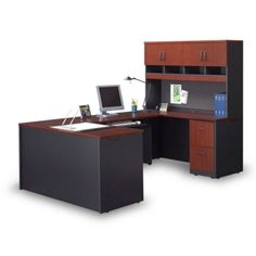 Compact U-Desk with Hutch - 13282 and more Office Desks