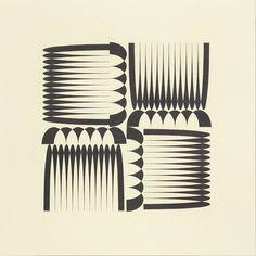 Jane Harris, Rhyme and Reason (Foursquare) 2, 2012 Crayon sur papier 50 x 50 cm