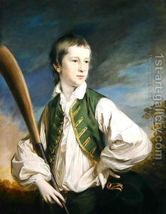 Charles Collyer as a boy, with a cricket bat, 1766 by Francis Cotes