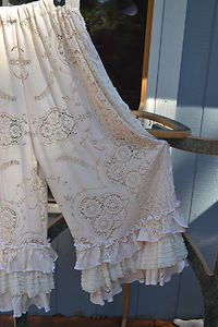 flowing lace pants with ruffles