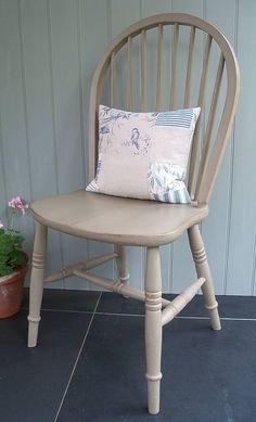 Hand Painted Quaker Dining Chair By Rectory Blue
