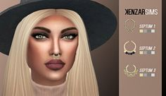 Septum pack (S+K) at Kenzar Sims via Sims 4 Updates Check more at http://sims4updates.net/accessories/septum-pack-sk-at-kenzar-sims/