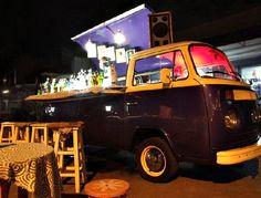 1977 VW BUS Turned Bar On Wheels