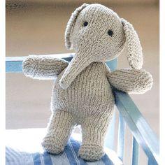 Sød strikket elefant