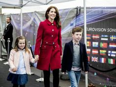 Crown Princess Mary, Prince Christian and Princess Isabella May 8, 2014