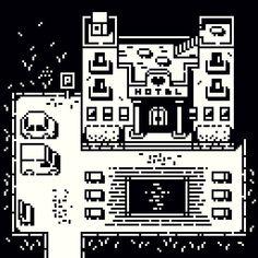 Cool Pixel Art, Pixel Animation, Pixel Art Games, Pixel Design, Monochrom, 2d Art, 8 Bit, Graphic Design Illustration, Game Design