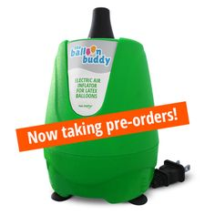 The Balloon Buddy is designed for speed and duration and can inflate latex balloons in seconds. While it's great for things like party preparation, business events, and balloon decoration projects, it's the perfect inflator for a mom or dad to have in the closet for those special occasions.