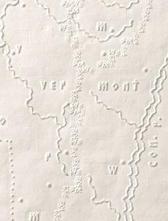 ❖Blanc❖ White Braille map