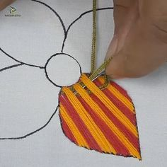 Hand embroidery flower design tutorial,Modify apparel with embroidery - how it works Your own taste and self-fulfillment through style have never performed a better role than today. Hand Embroidery Patterns Free, Basic Embroidery Stitches, Hand Embroidery Videos, Hand Embroidery Flowers, Embroidery Stitches Tutorial, Flower Embroidery Designs, Creative Embroidery, Crewel Embroidery, Cross Stitch Embroidery