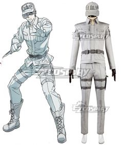 White blood cell Neutrophil Cosplay Costume Outfit FF.2015 Anime Cells at Work