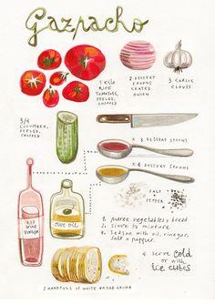 wholekitchen: Gazpacho, hermosa receta ilustrada