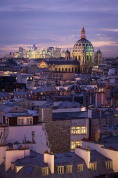Vue sur les toits de Paris, l'église Saint-Augustin et la Défense — Paris, France. | by David Briard
