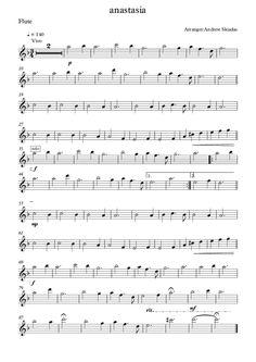 anastasia flute sheet music - Google Search