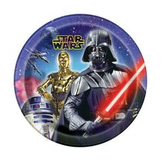 "9"" Classic Star Wars Dinner Plates, 8ct"