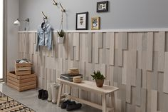 Timberwall Wall Panel TWLA Landscape Peel and Stick Wood Wall Covering - Wood Working Stick On Wood Wall, Peel And Stick Wood, Wall Wood, Timber Walls, Wood Panel Walls, Decorative Wall Panels, 3d Wall Panels, Kitchen Wall Covering, Rustic Wood Floors