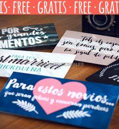 Sobres para regalar dinero boda imprimible gratis free, sobres per regalar diners casament imprimible gratuit.