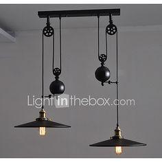 Lámparas Colgantes ,  Retro Pintura Característica for Mini Estilo MetalSala de estar Dormitorio Comedor Cocina Habitación de 2017 - R$427.11