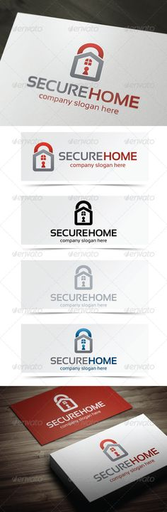 Secure Home - Logo Design Template Vector #logotype Download it here: http://graphicriver.net/item/secure-home/4949362?s_rank=411?ref=nexion