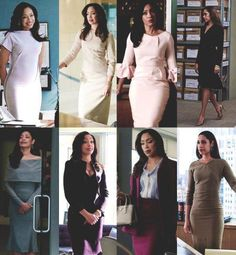 Final look at some of the work clothes of suits character - Jessica Pearson