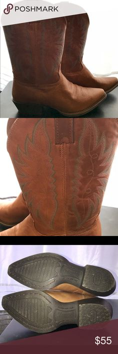 Women's size 9 Nocona Competitor Round Toe Boots NOCONA NL1115 COMPETITOR BROWN LEATHER WOMEN'S COWBOY WESTERN BOOTS. Great condition. Only worn once. A few small scuffs, no major flaws. Paid $200 new. Nocona Shoes Heeled Boots