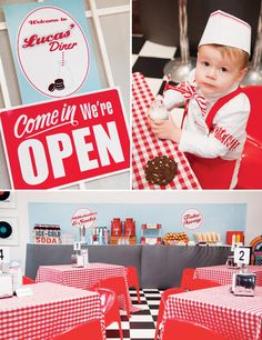 Retro 50s Inspired Diner Birthday - I *LOVE* this so much! I see this theme in Fox's future lol.