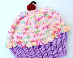 Sombrero de la Magdalena con cereza en tapa lavanda morado uva helar algodón de azúcar rosado glaseado con Sprinkles adultos niños bebé niño