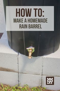 The basic building blocks of a rain barrel are 1. a water storage area, and 2. a way to drain the rainwater from the barrel into a hose. That's it. // DIY // DIY Crafts // DIY Projects // Crafts for Adults // Craft Projects // Crafts // Home Projects // Home Projects DIY Diy Craft Projects, Home Projects, Home Crafts, Projects To Try, Diy Crafts, Water Storage, Storage Area, Rain Barrel, Adult Crafts