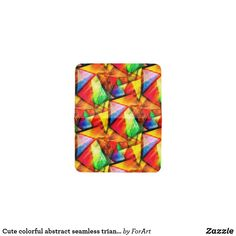 Cute colorful abstract seamless triangles patterns card holder Triangle Pattern, Card Patterns, Business Supplies, Card Wallet, Party Hats, Triangles, Art Pieces, Card Holder, Colorful
