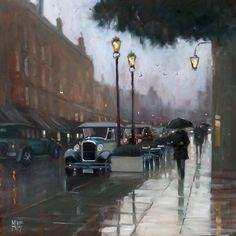 Mike Barr - Old Waymouth Street - oil on board