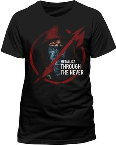 Soulfood Music Shirts Herren T-Shirt METALLICA, THROUGH THE NEVER LOGO, Einfarbig, Gr. X-Large, Schwarz