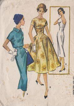 Vintage 1956 Misses Wiggle Dress And Short by CottageLaneTreasures, $16.00