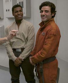 Poe and Finn Star Wars Sequel Trilogy, Vatican Cameos, Star Wars Jokes, John Boyega, Oscar Isaac, Star Wars Fan Art, Disney Stars, Love Stars, Reylo