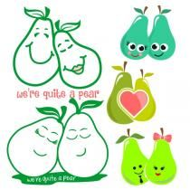 Valentine's Day Cuttable Design We are quite the pear