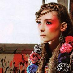 Pink woman  Makeup/hair: @eleftheria.savvopoulou.mu  #fashion#photoshoot#tb#art#makeup#red#braids#boho#colours#eleftheriasavvopoulou#creative#lovemyjob💄