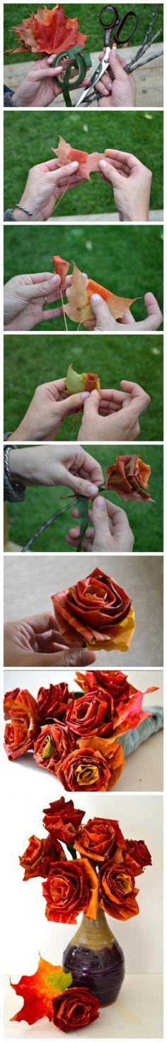 树叶玫瑰【阿画】