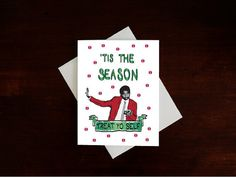 Treat Yo Self Holiday Card, Parks and Rec Card, Christmas Card, Tom Haverford, Donna Meagle, Xmas