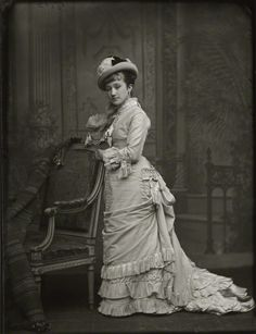 Adelaide Fanny Louise Barber (née Bassano). by Alexander Bassano. half-plate collodion glass negative, late 1870s