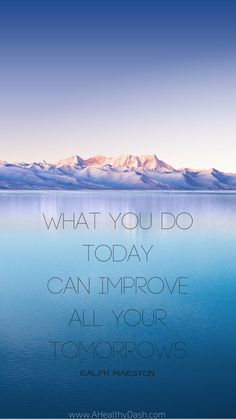 """Find awesome Motivational iPhone or android Wallpaper backgrounds on this blog - great for lock screen, nice reminder every time I look at my phone. Fitness motivational quotes, health motivation, healthy lifestyle motivation, quote of the day, typography, inspirational quote, fitness quote. Ralph Marston Quote """"what you do today can improve all your tomorrows"""""""