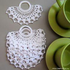 Crochet Placemats, Crochet Dishcloths, Crochet Doilies, Crochet Stitches, Crochet Art, Crochet Home, Handmade Crafts, Diy And Crafts, Childrens Purses