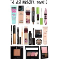The best maybelline  products by sabrinagirl17 on Polyvore featuring polyvore, beauty and Maybelline
