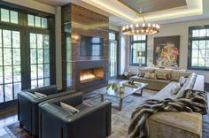 This cozy living room was designed by Denver, CO-based Studio D. Design. | See more: https://luxesource.com/resources/studio-d-design?utm_source=pinterest. | #luxeCO