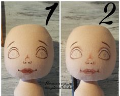 Sewing a Fabric Doll on Your Own – a free tutorial on the topic: Dolls ✓DIY ✓Steps-By-Step ✓With photos Doll Face Paint, Doll Painting, Doll Clothes Patterns, Doll Patterns, Doll Tutorial, Sewing Dolls, Soft Dolls, Diy Doll, Amigurumi Doll